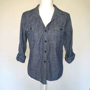 Old Navy Long Sleeve Chambray Button Down